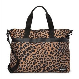 Leopard LeSportsac Large Tote, NWOT Never Used!